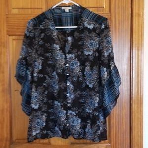 Style& Co. Floral Print Blouse